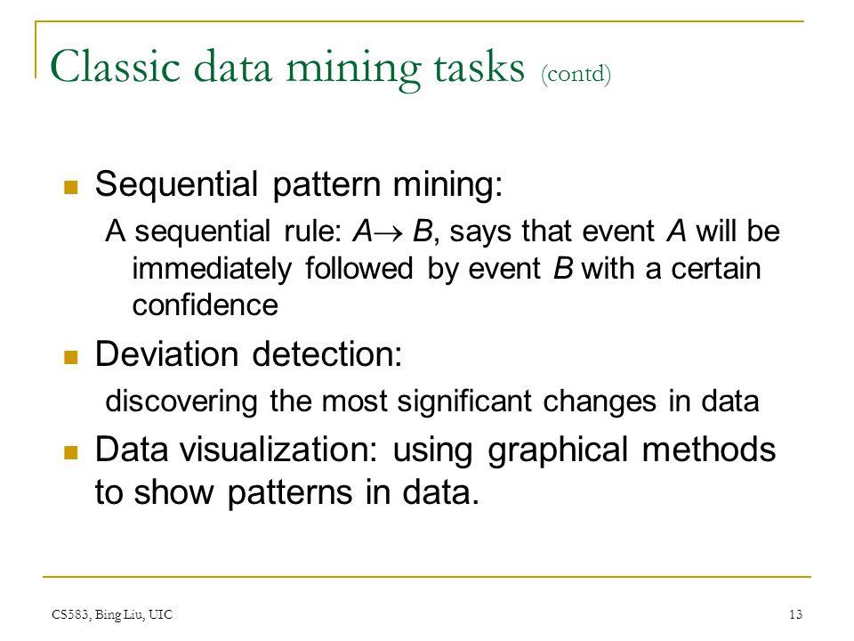 Classic data mining tasks (contd)