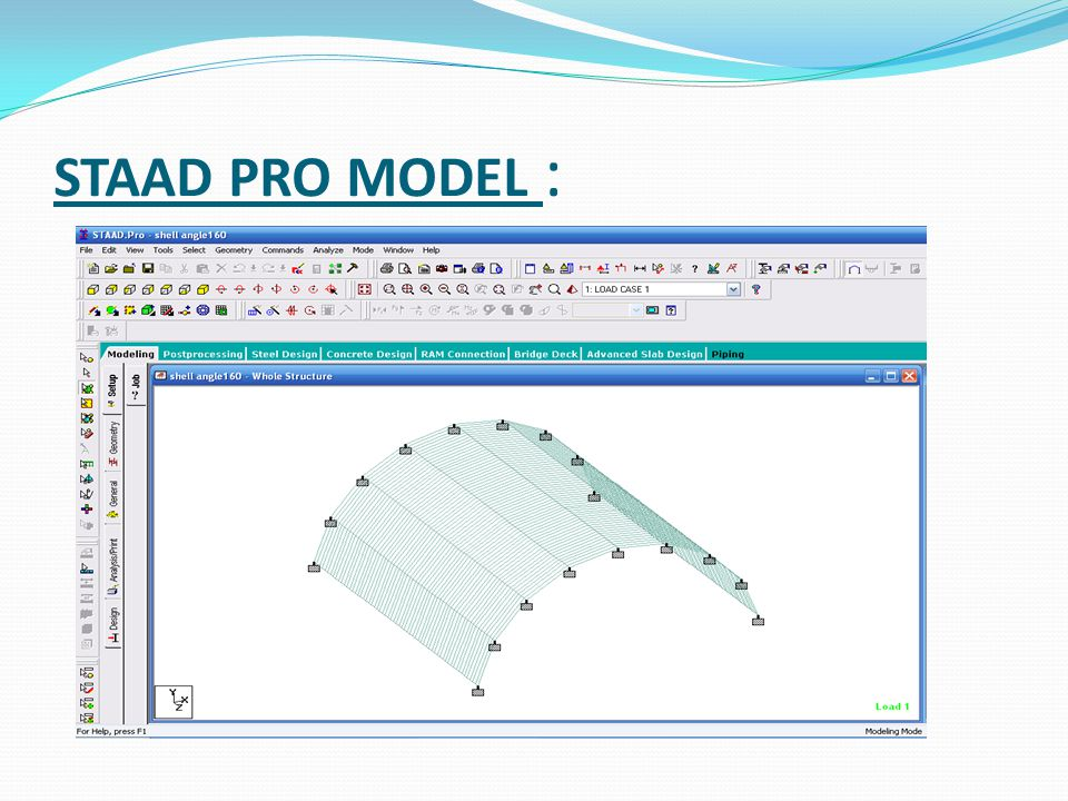 STAAD PRO MODEL :