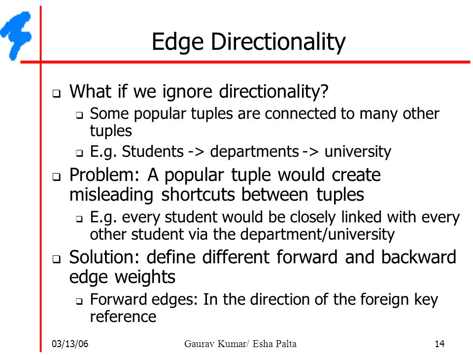 Edge Directionality What if we ignore directionality