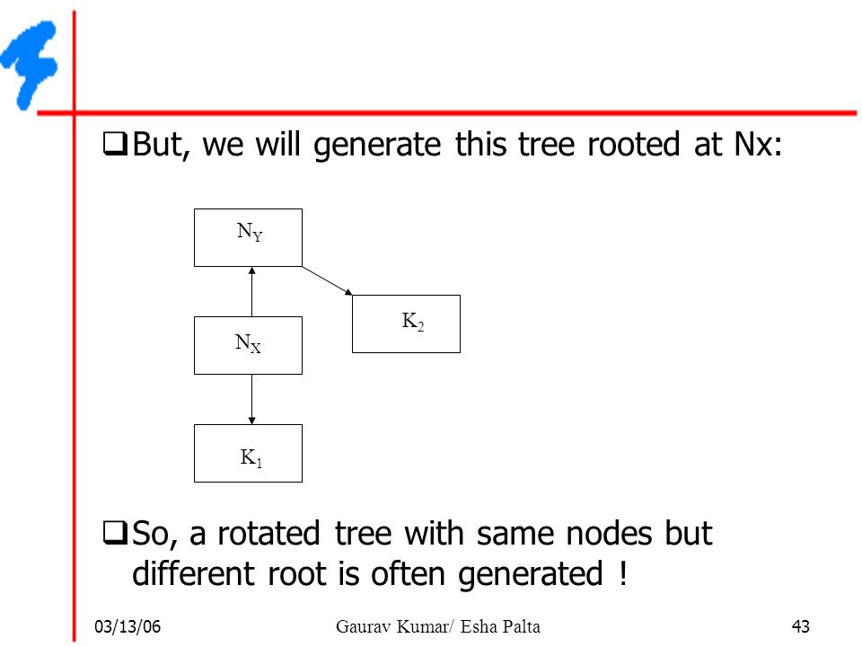 But, we will generate this tree rooted at Nx: