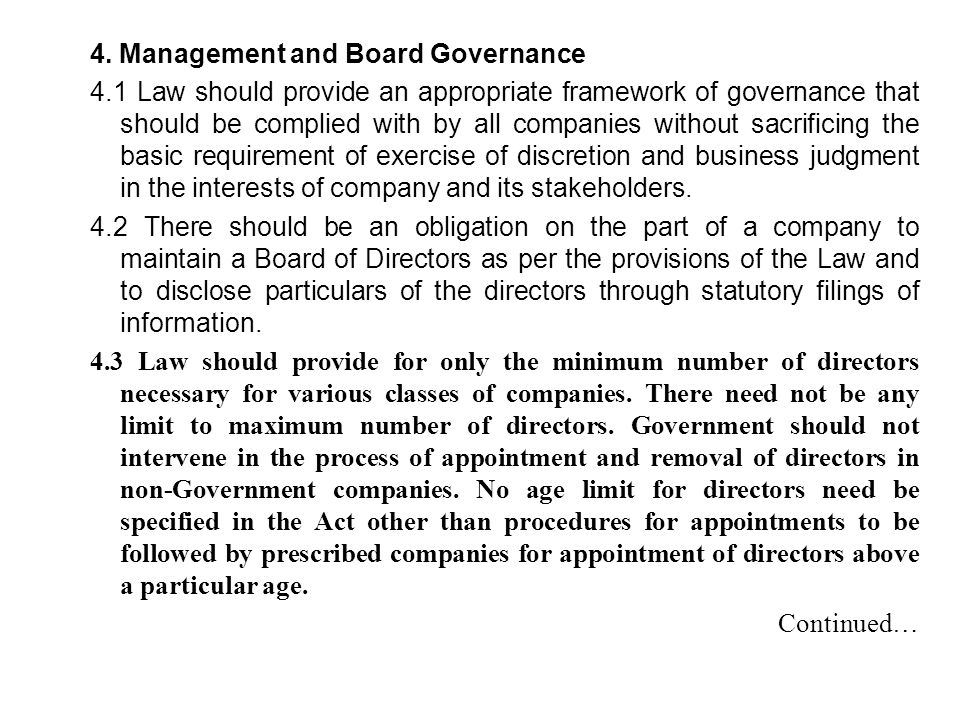 4. Management and Board Governance