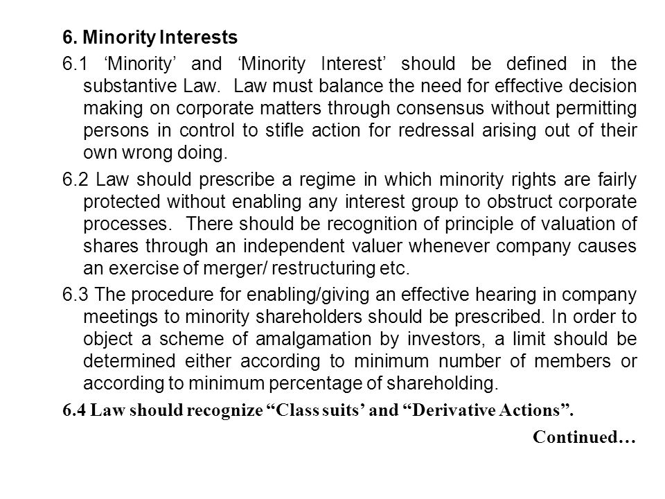 6. Minority Interests