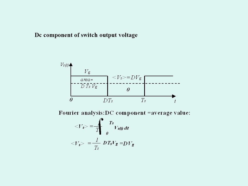 Dc component of switch output voltage
