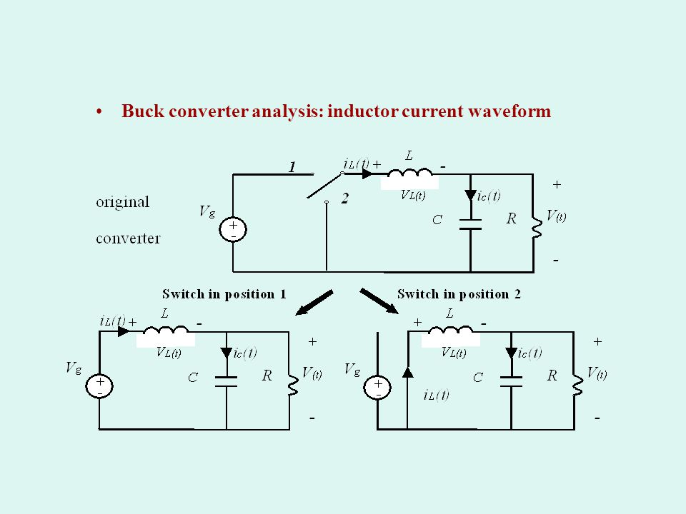 Buck converter analysis: inductor current waveform