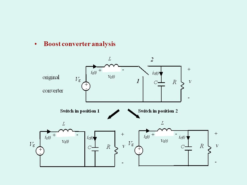 Boost converter analysis