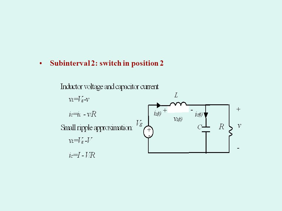 Subinterval 2: switch in position 2