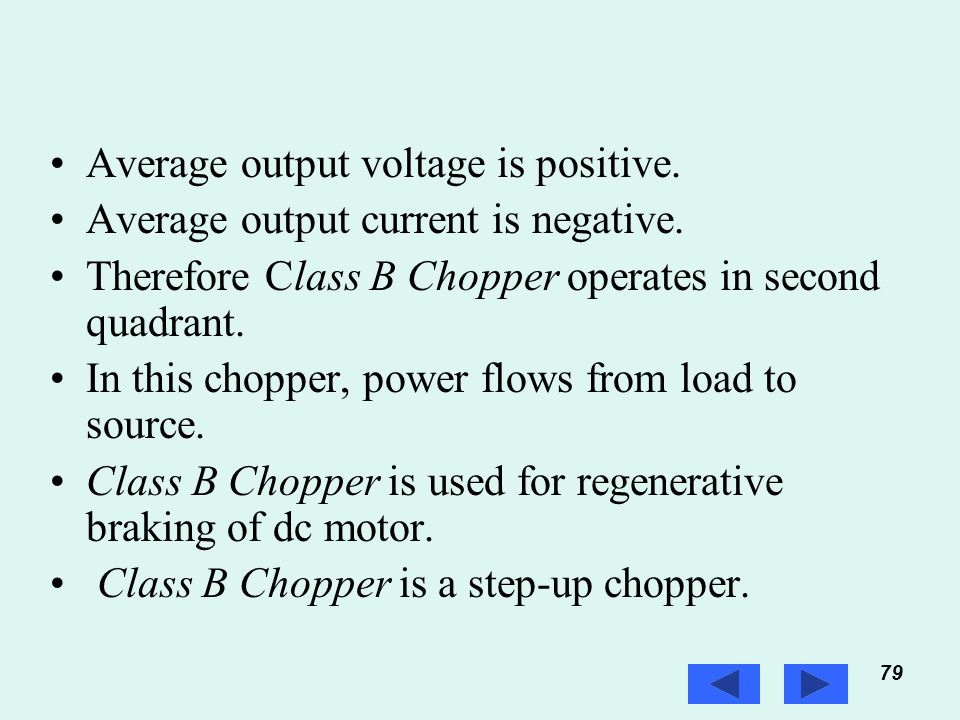 Average output voltage is positive.