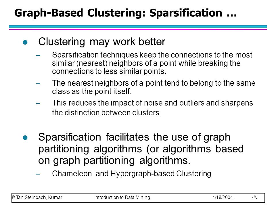 Graph-Based Clustering: Sparsification …