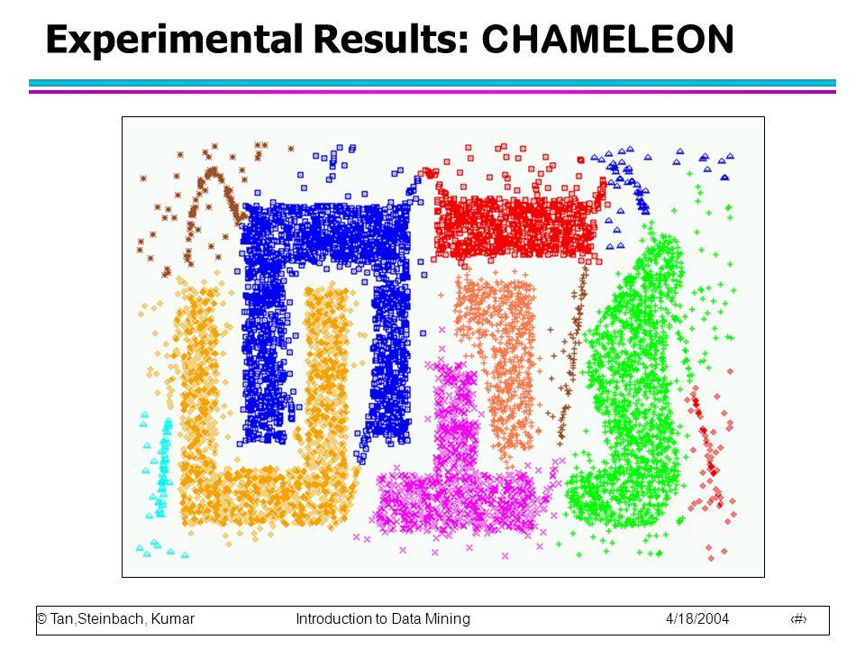 Experimental Results: CHAMELEON