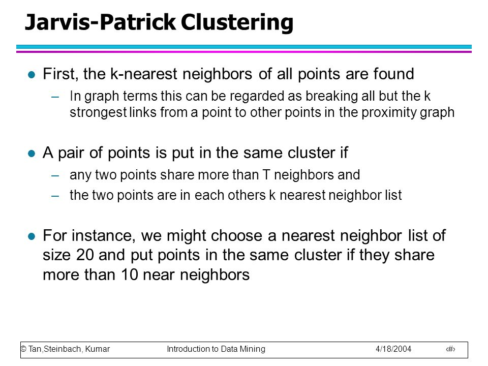 Jarvis-Patrick Clustering