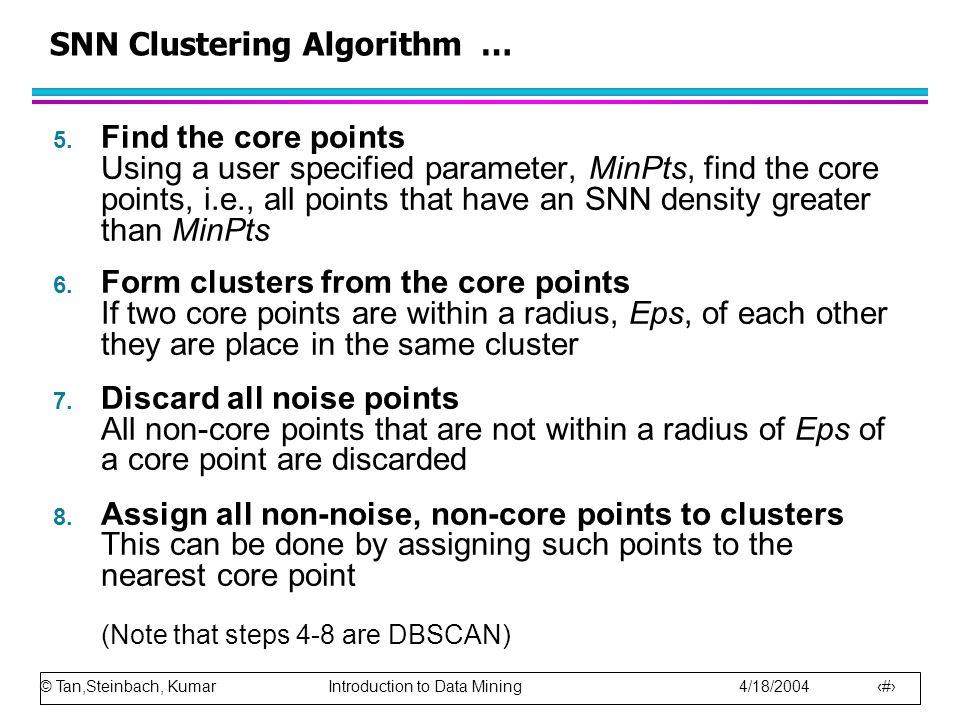 SNN Clustering Algorithm …