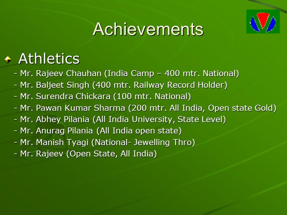 Achievements Athletics