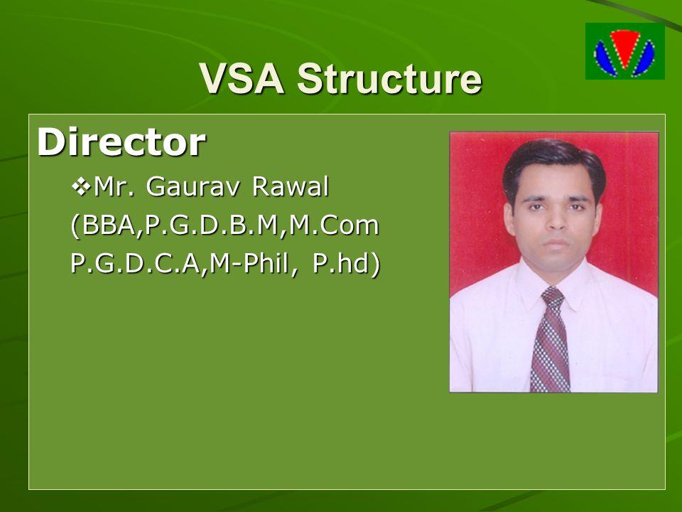 VSA Structure Director Mr. Gaurav Rawal (BBA,P.G.D.B.M,M.Com