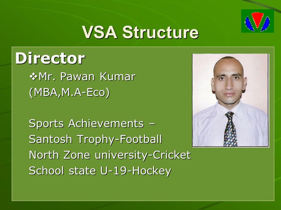 VSA Structure Director Mr. Pawan Kumar (MBA,M.A-Eco)