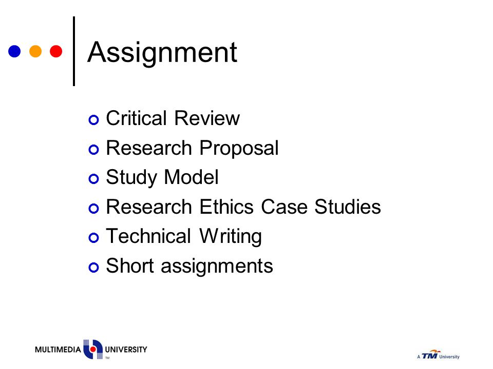 Assignment Critical Review Research Proposal Study Model