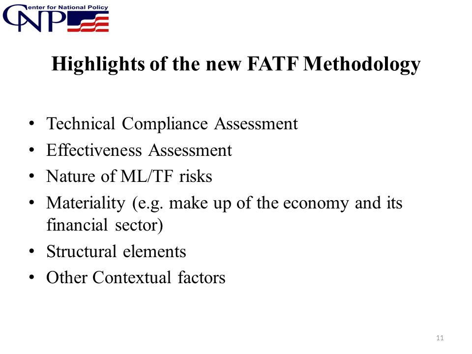 Highlights of the new FATF Methodology