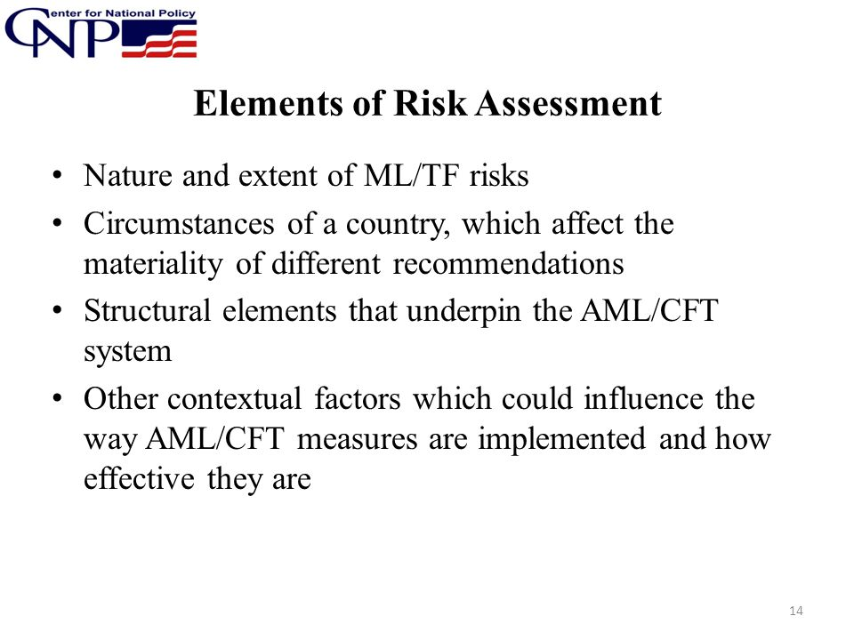 Elements of Risk Assessment
