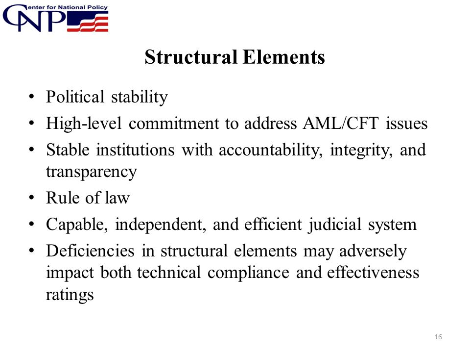 Structural Elements Political stability