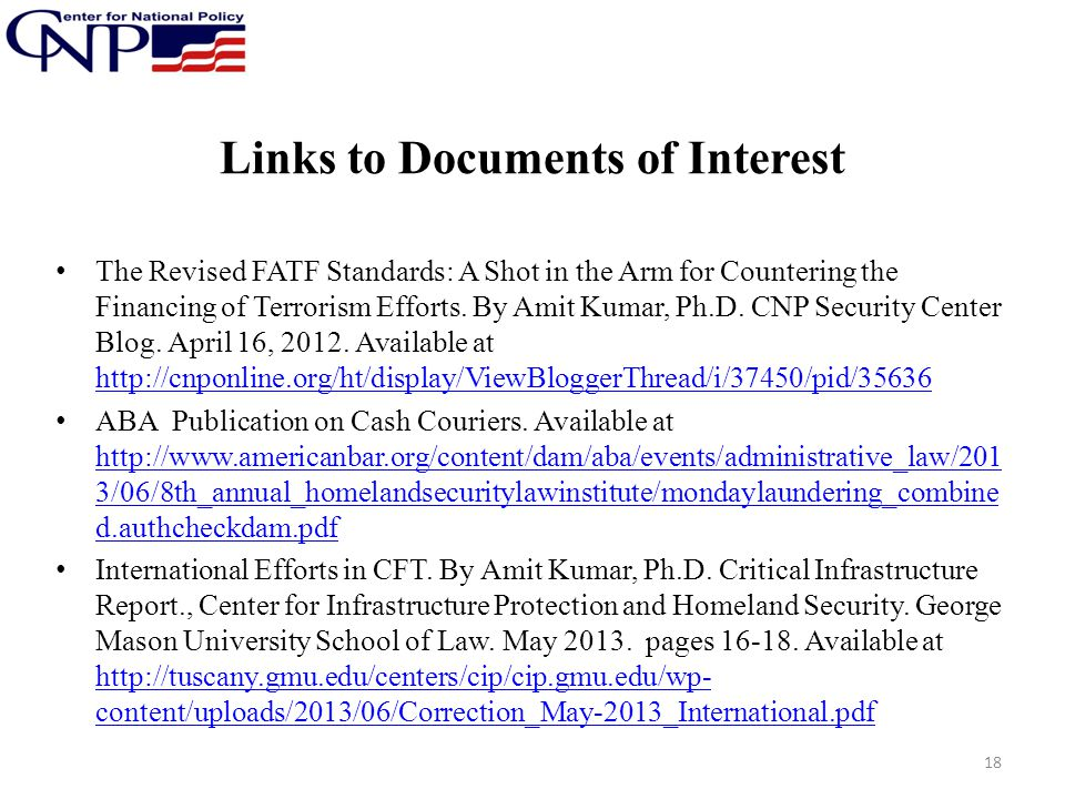 Links to Documents of Interest