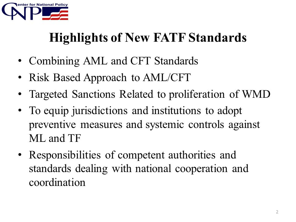 Highlights of New FATF Standards