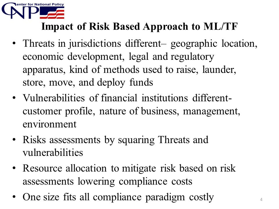 Impact of Risk Based Approach to ML/TF