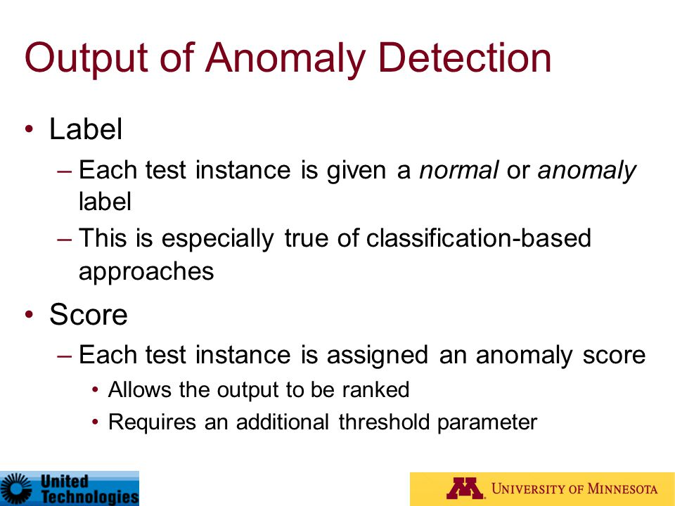 Output of Anomaly Detection