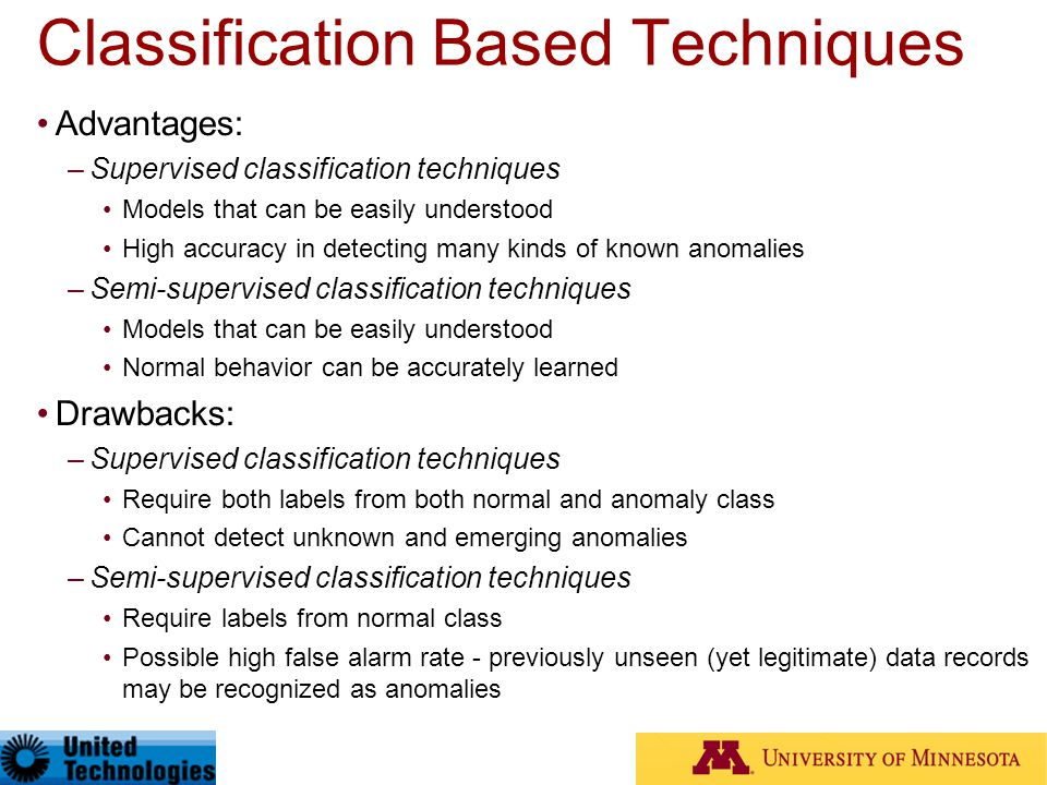 Classification Based Techniques