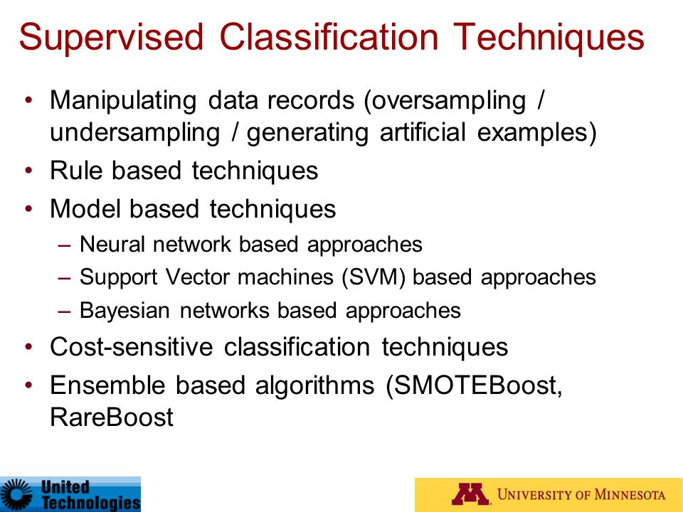 Supervised Classification Techniques