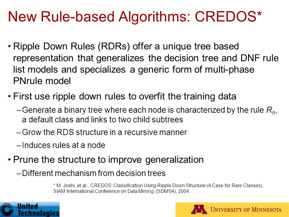 New Rule-based Algorithms: CREDOS*
