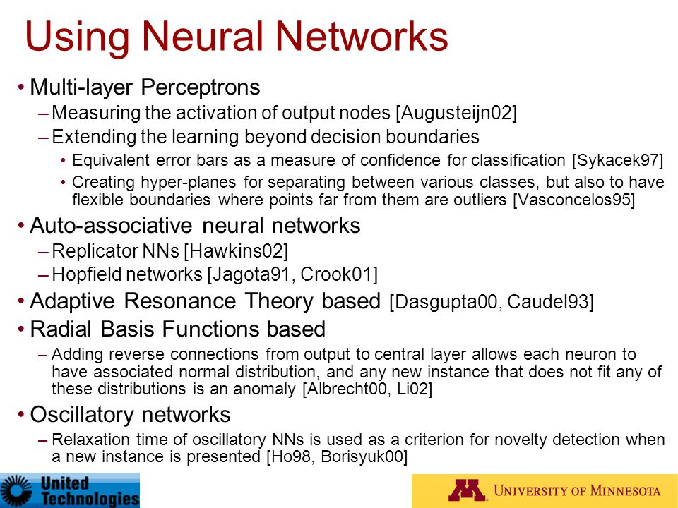 Using Neural Networks Multi-layer Perceptrons