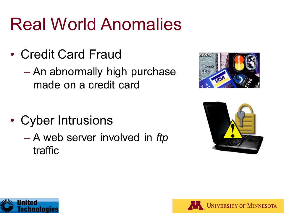 Real World Anomalies Credit Card Fraud Cyber Intrusions