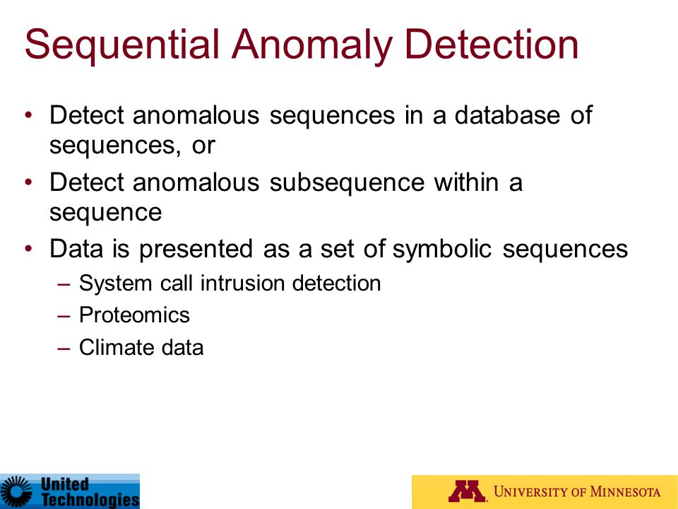 Sequential Anomaly Detection