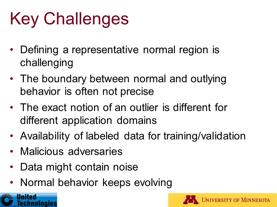 Key Challenges Defining a representative normal region is challenging
