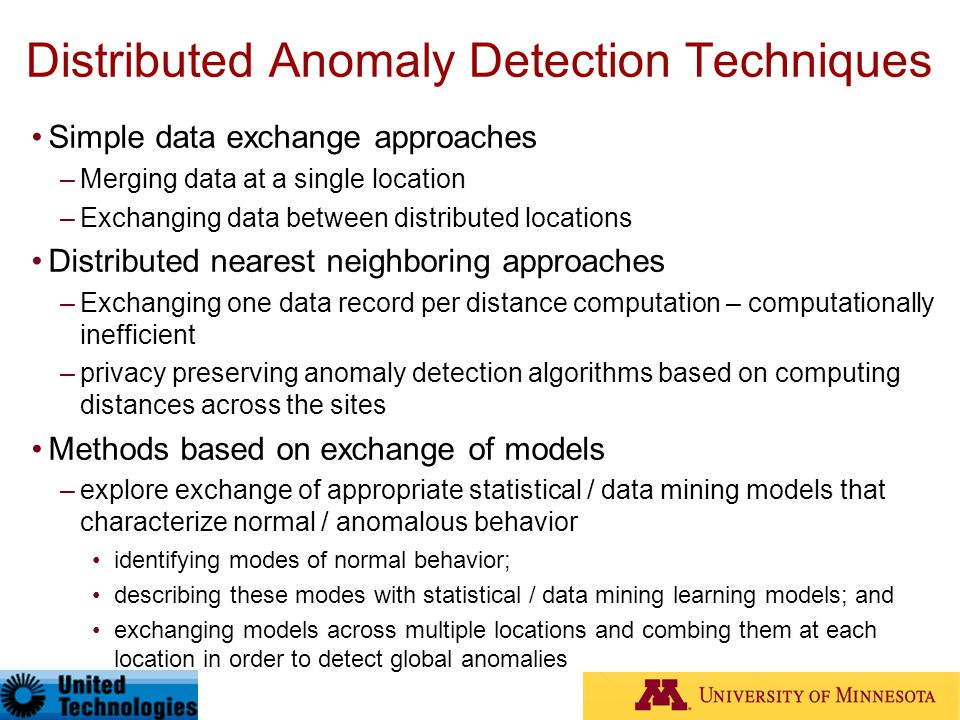 Distributed Anomaly Detection Techniques