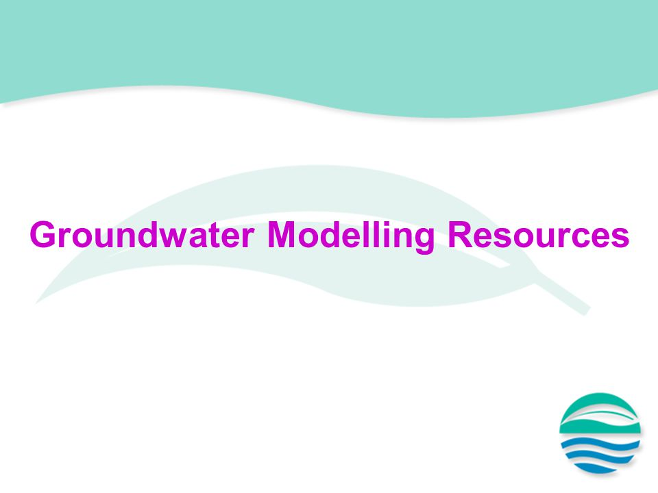 Groundwater Modelling Resources