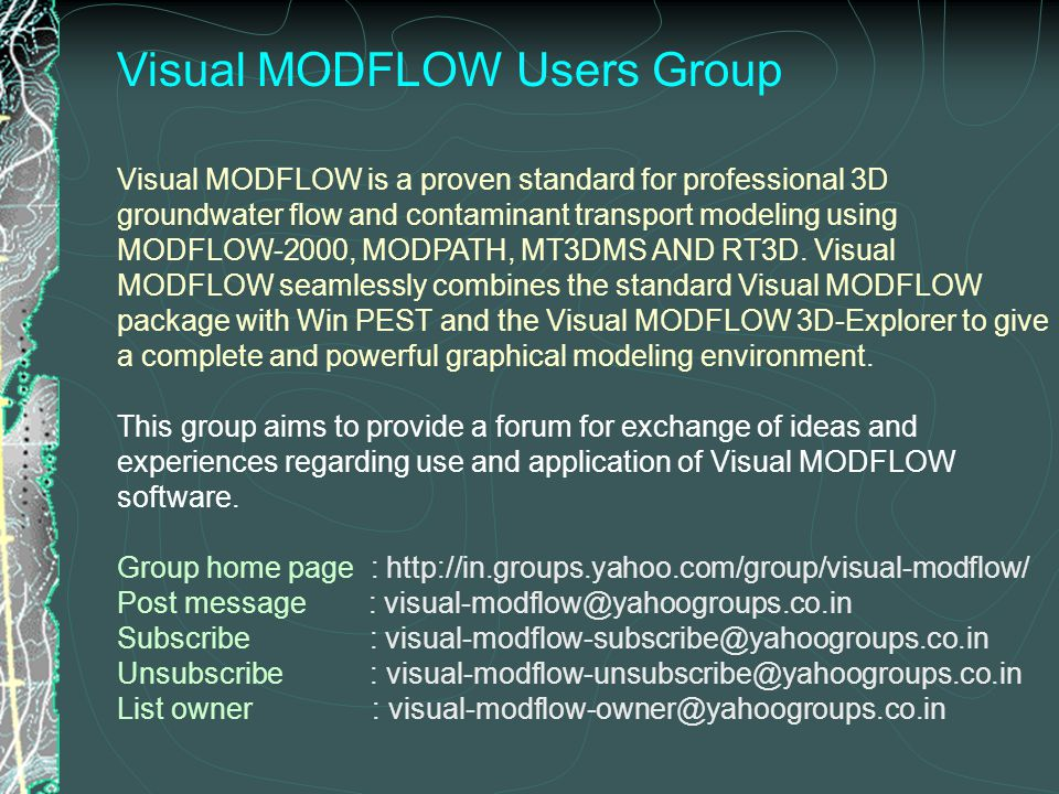 Visual MODFLOW Users Group