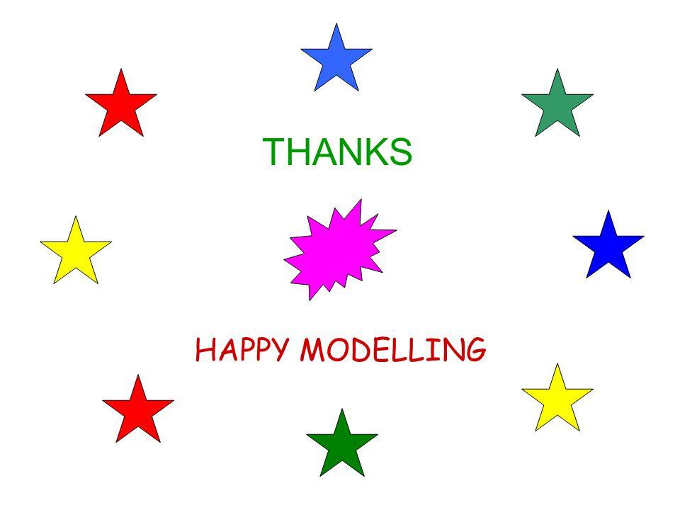 THANKS HAPPY MODELLING