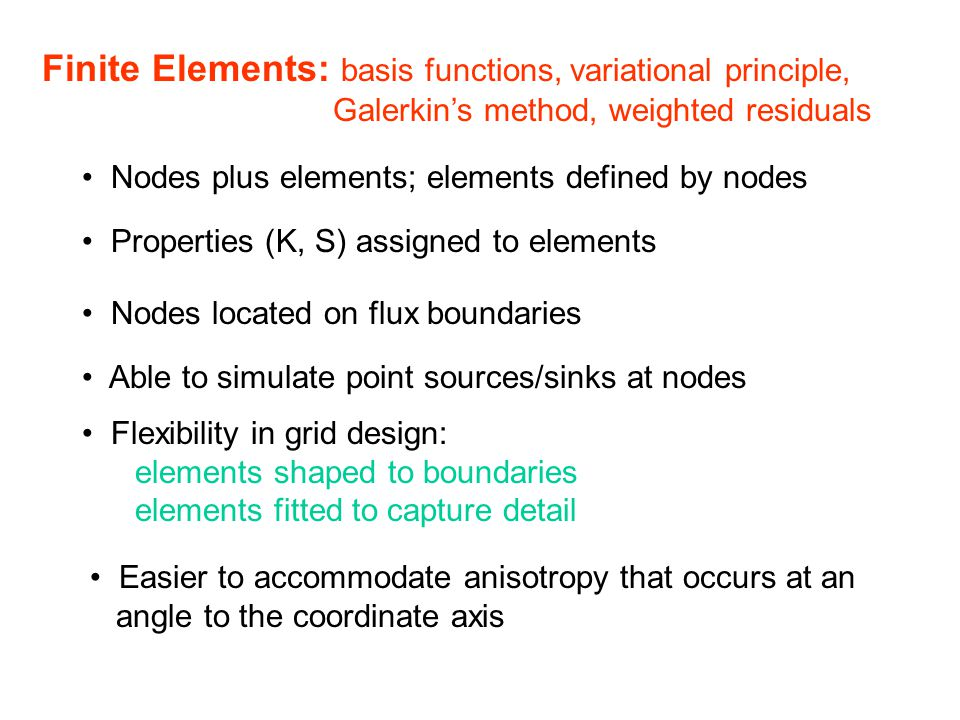 Finite Elements: basis functions, variational principle,