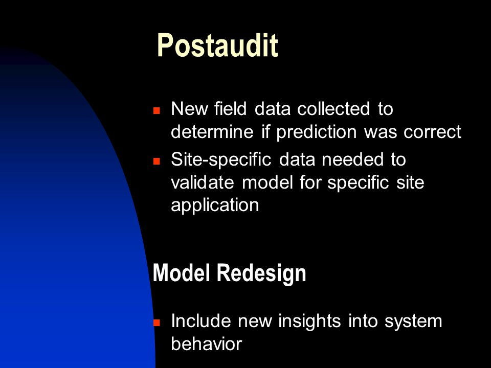 Postaudit Model Redesign