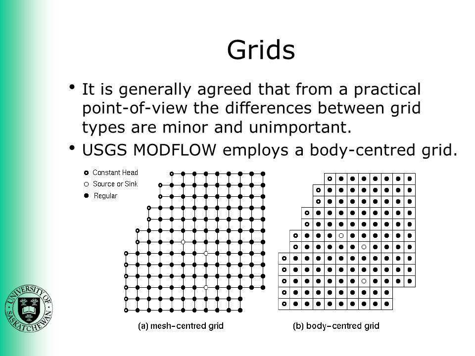 Grids It is generally agreed that from a practical point-of-view the differences between grid types are minor and unimportant.