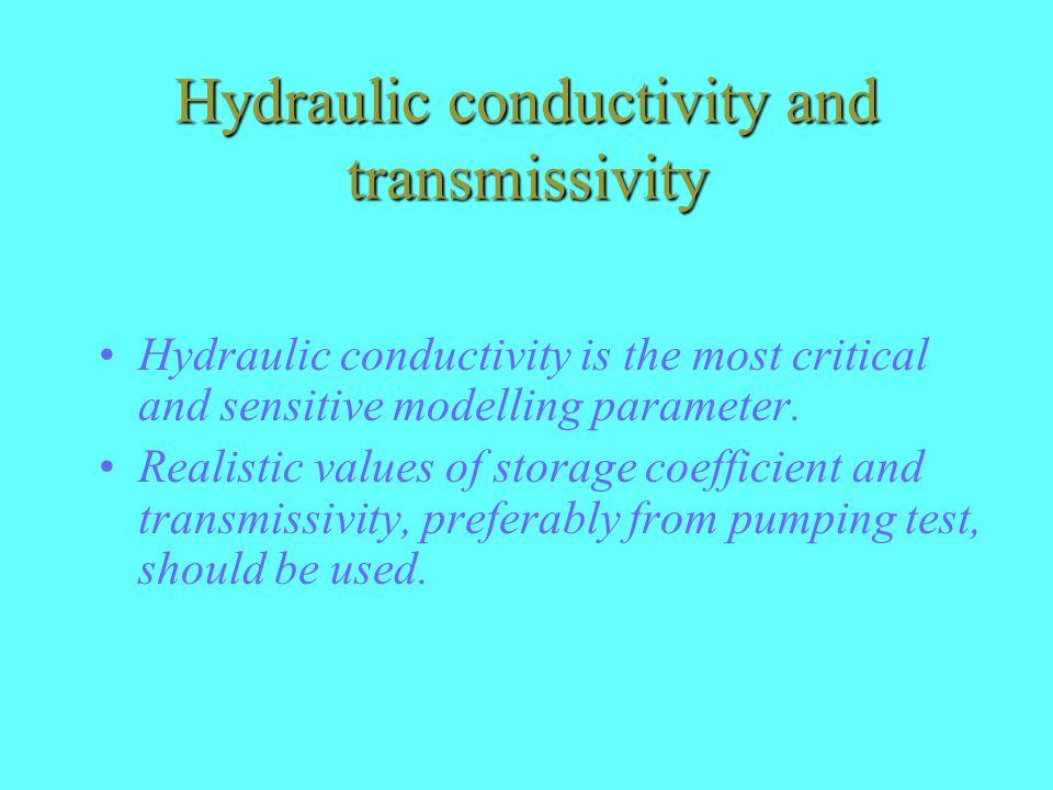 Hydraulic conductivity and transmissivity