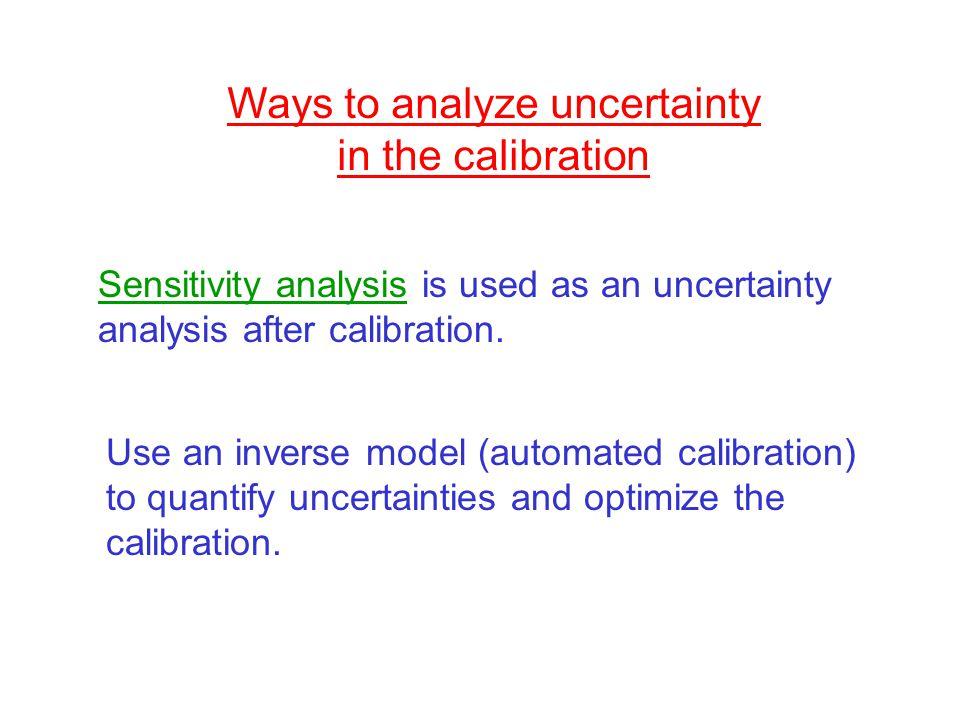 Ways to analyze uncertainty