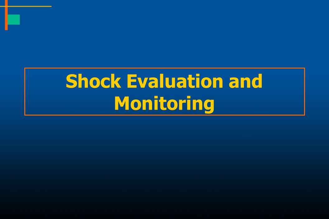 Shock Evaluation and Monitoring