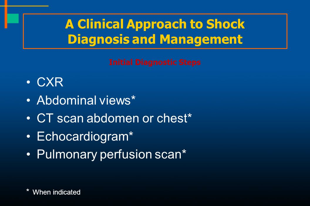 A Clinical Approach to Shock Diagnosis and Management