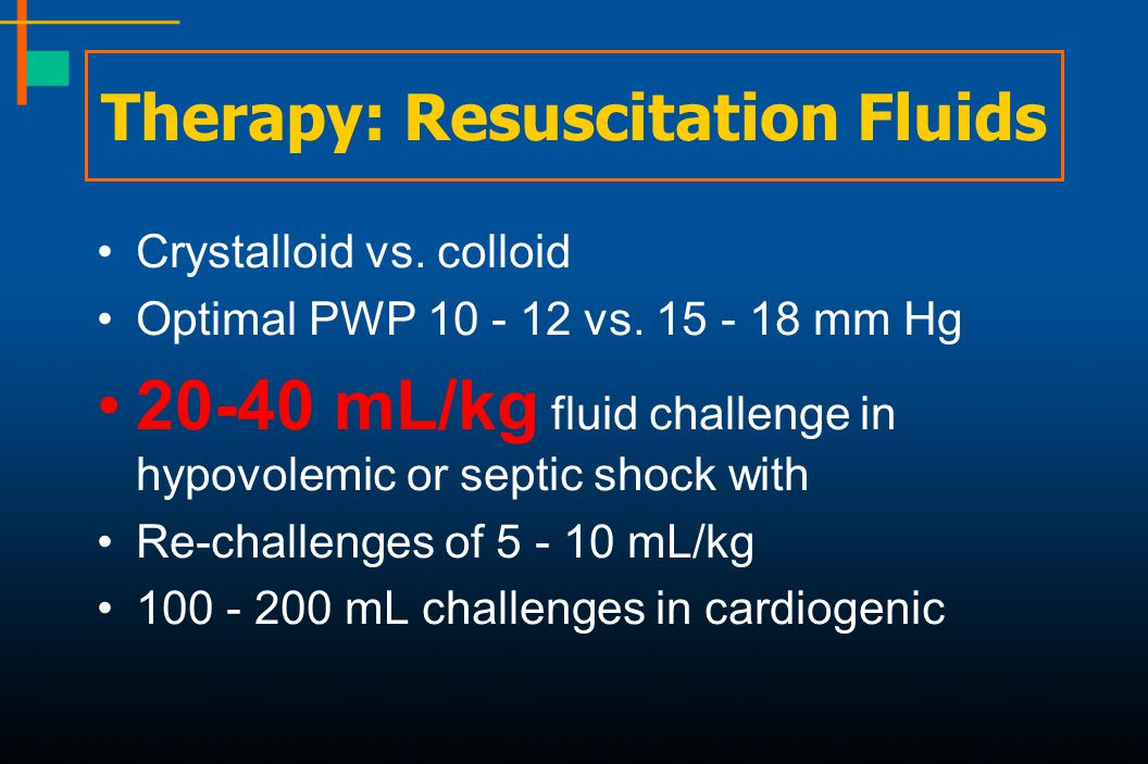 Therapy: Resuscitation Fluids