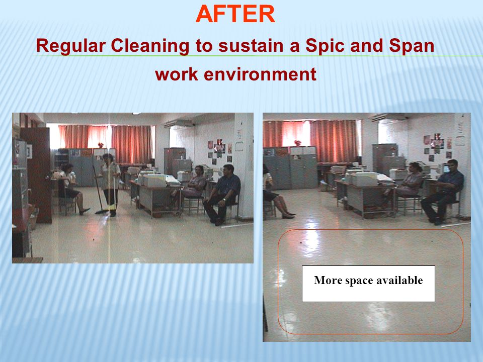Regular Cleaning to sustain a Spic and Span