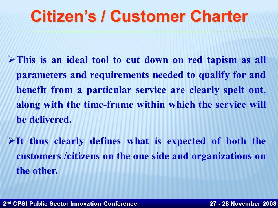 Citizen's / Customer Charter