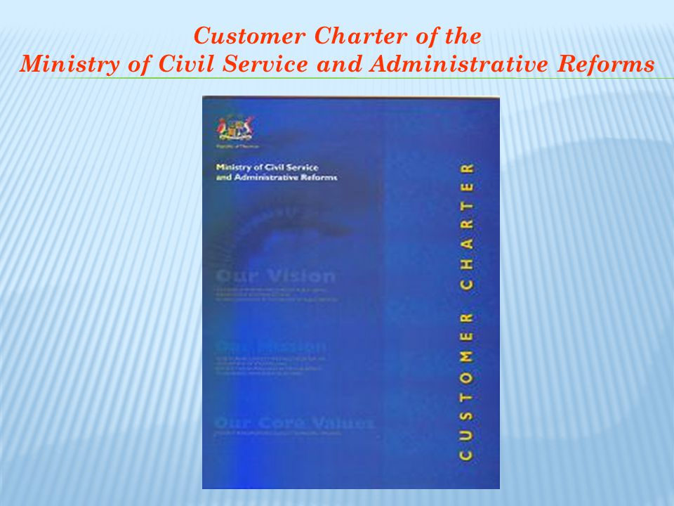 Customer Charter of the