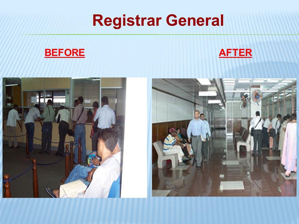 Registrar General BEFORE AFTER