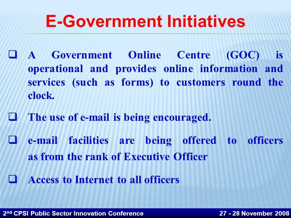E-Government Initiatives